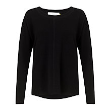 Buy Collection WEEKEND by John Lewis Cashmere Swing Sweatshirt Top, Black Online at johnlewis.com