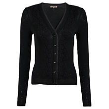 Buy Jigsaw Eva Thermal Cardigan, Black Online at johnlewis.com