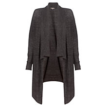 Buy Jigsaw Melange Wool Blend Cardigan, Dark Grey Melange Online at johnlewis.com
