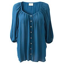 Buy East Georgette Blouse, Marine Online at johnlewis.com
