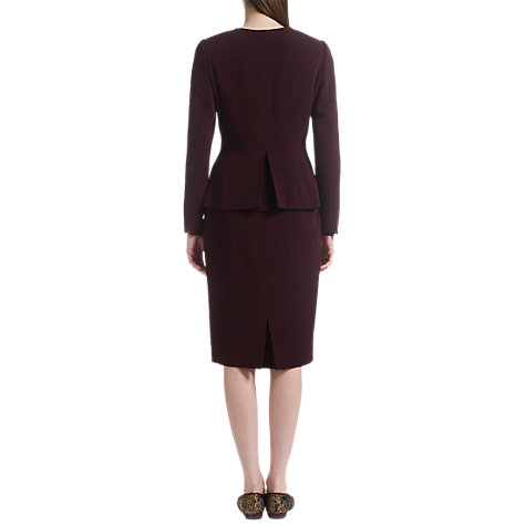 Buy Jigsaw Fine Wool Jacket, Plum Online at johnlewis.com