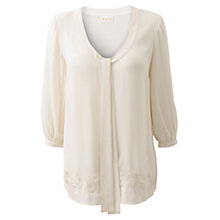 Buy East Georgette Top, Ivory Online at johnlewis.com