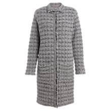 Buy Jigsaw Chunky Chanel Coatigan, Grey Online at johnlewis.com