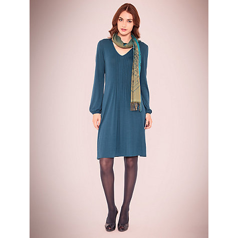 Buy East Jersey Pintuck Dress, Marine Online at johnlewis.com