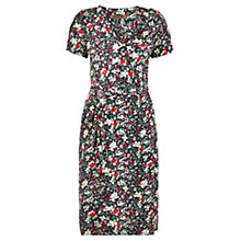 Buy Jigsaw Floral Print Wrap Dress, Green Online at johnlewis.com