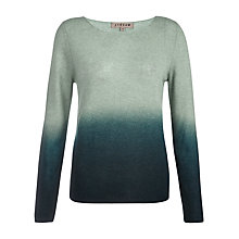 Buy Jigsaw Ombre Dyed Sweater, Pine Online at johnlewis.com