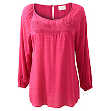 Buy East Dobby Blouse, Hot Pink Online at johnlewis.com