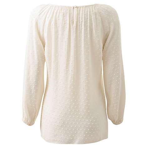 Buy East Dobby Blouse, Ivory Online at johnlewis.com