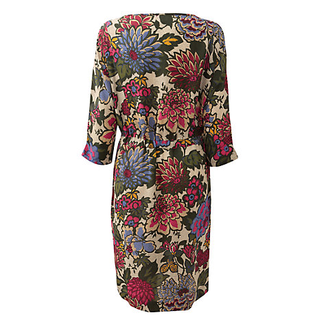 Buy East Dahlia Floral Dress, Multi Online at johnlewis.com