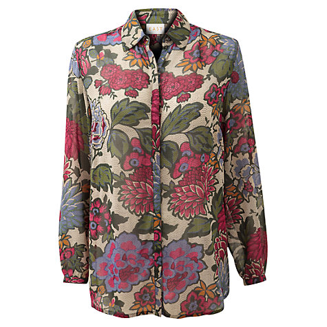 Buy East Dahlia Floral Blouse, Multi Online at johnlewis.com