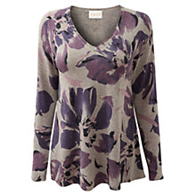 Buy East Floral Jumper, Ash Online at johnlewis.com