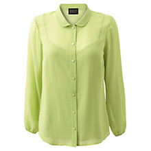 Buy East Silk Blouse, Leaf Green Online at johnlewis.com