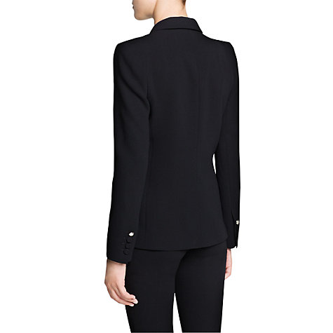 Buy Mango Emblem Button Suit Blazer, Black Online at johnlewis.com