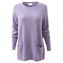Buy East Oversize Pocket Jumper, Lilac Online at johnlewis.com