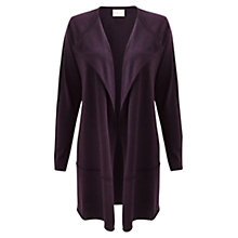 Buy East Draped Cardigan, Black Plum Online at johnlewis.com