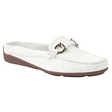 Buy John Lewis Vienna Moccasins, White Online at johnlewis.com