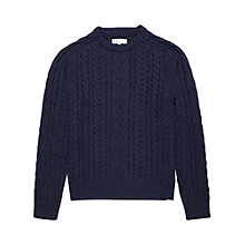 Buy Reiss Chesterfield Cable Knit Jumper Online at johnlewis.com