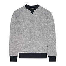 Buy Reiss Maria Contrast Trim Jersey Jumper Online at johnlewis.com
