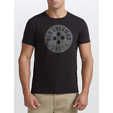 Buy Ben Sherman Button Logo Crew Neck T-Shirt Online at johnlewis.com