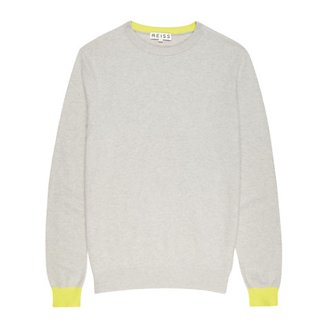 Buy Reiss Hamlet Contrast Cuffs Jumper Online at johnlewis.com