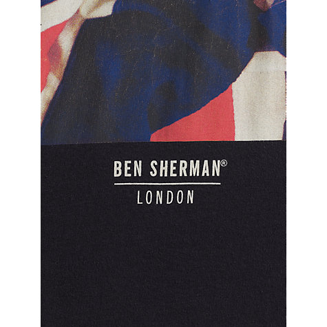 Buy Ben Sherman Flag Print Crew Neck T-Shirt Online at johnlewis.com
