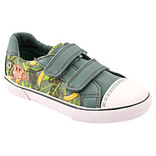 Buy Start-rite Jungle Monkey Canvas Shoes, Khaki Online at johnlewis.com