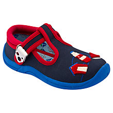 Buy Start-rite Seaside Canvas Shoes, Navy/Red Online at johnlewis.com