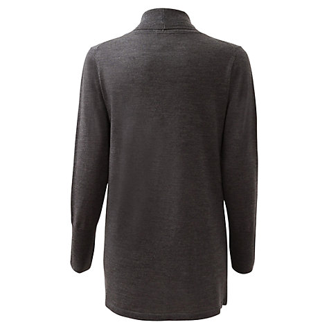 Buy East Merino Curved Pocket Merino Cardigan, Graphite Online at johnlewis.com