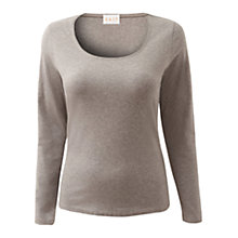 Buy East Scoop Neck Melange Top, Ash Online at johnlewis.com