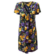 Buy East Catrin Silk Dress, Plum Online at johnlewis.com