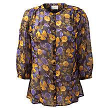 Buy East Catrin Blouse, Plum Online at johnlewis.com