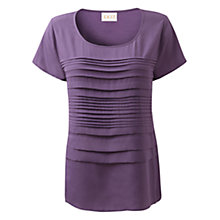 Buy East Pleat Front Tee, Lilac Online at johnlewis.com
