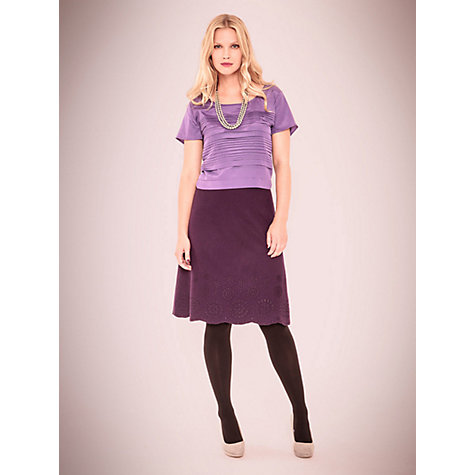 Buy East Cutwork Skirt, Black Plum Online at johnlewis.com