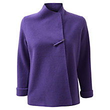 Buy East Boiled Wool Short Coatigan, Violet Online at johnlewis.com