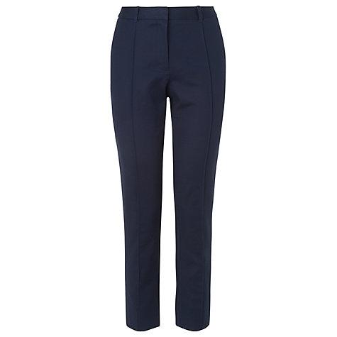 Buy L.K. Bennett Tapered Leg Trousers, Blue Navy Online at johnlewis.com