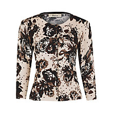 Buy Precis Petite Floral & Spot Cardigan, Natural Online at johnlewis.com