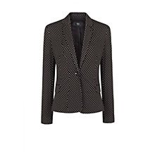 Buy Mango Polka Dot Jersey Blazer, Black Online at johnlewis.com