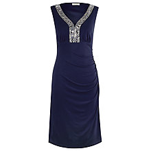 Buy Precis Petite Embellished Dress, Blue Online at johnlewis.com