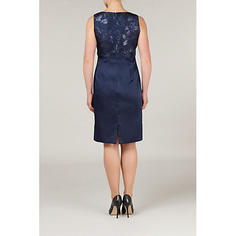 Buy Precis Petite Embellished Jacquard Dress, Blue Online at johnlewis.com