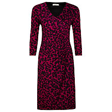 Buy Precis Petite Animal Print Dress, Pink/Black Online at johnlewis.com