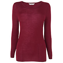 Buy L.K. Bennett Open Crew Neck Top, Bordeaux Online at johnlewis.com