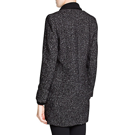 Buy Mango Double Breasted Coat, Dark Grey Online at johnlewis.com