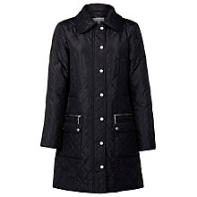 Buy Kaliko Diamond Quilted Coat, Black Online at johnlewis.com