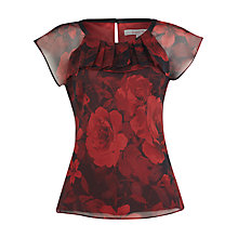 Buy Jacques Vert Garnet Rose Print Blouse, Red Online at johnlewis.com