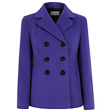 Buy Precis Petite Pea Coat, Purple Online at johnlewis.com