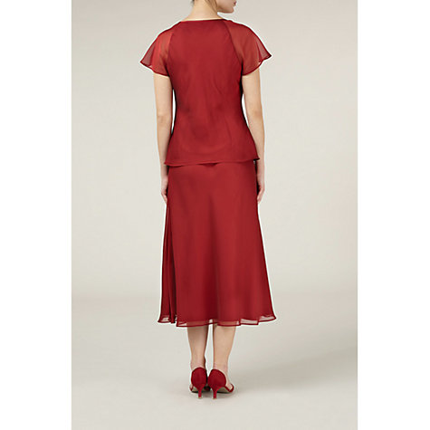 Buy Jacques Vert Ladder Stitch Blouse, Red Online at johnlewis.com