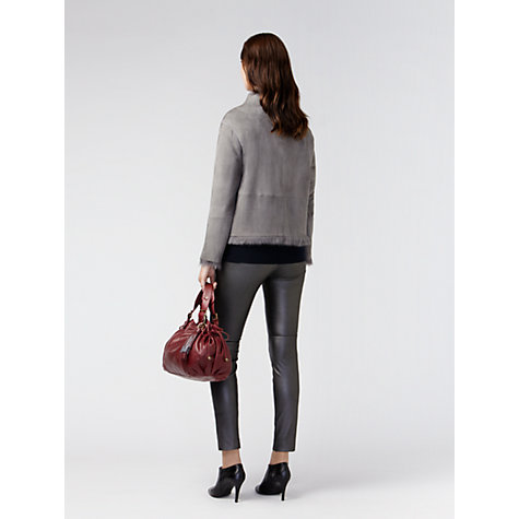 Buy Gérard Darel Lambskin Jacket, Grey Online at johnlewis.com