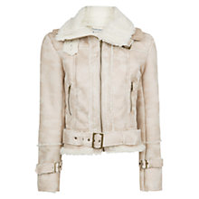 Buy Mango Contrast Faux Shearling Jacket Online at johnlewis.com