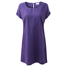 Buy East Scoop Neck Linen Dress, Violet Online at johnlewis.com