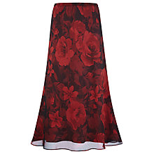 Buy Jacques Vert Garnet Rose Print Skirt, Red/Black Online at johnlewis.com